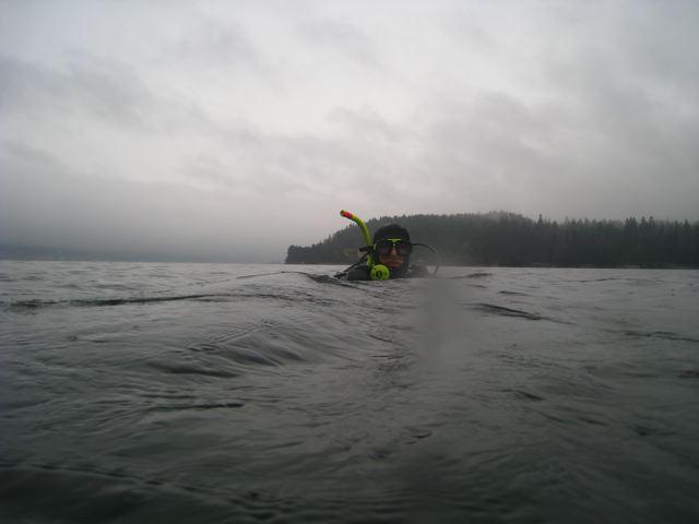 Lars i overflata på en riktig grå novemberdag